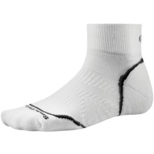 SmartWool 2013 PhD Cycle Light Socks - Merino Wool, Quarter-Crew (For Men and Women) in White - 2nds