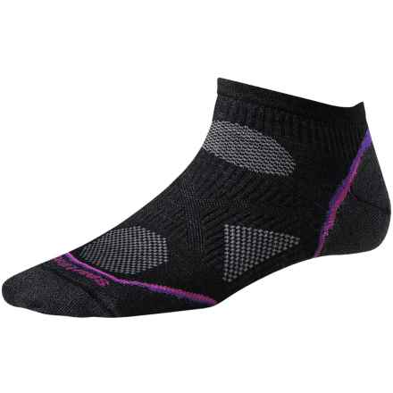 SmartWool 2013 PhD Cycle Micro Socks - Merino Wool, Below-the_Ankle, Ultralight (For Women) in Black - 2nds