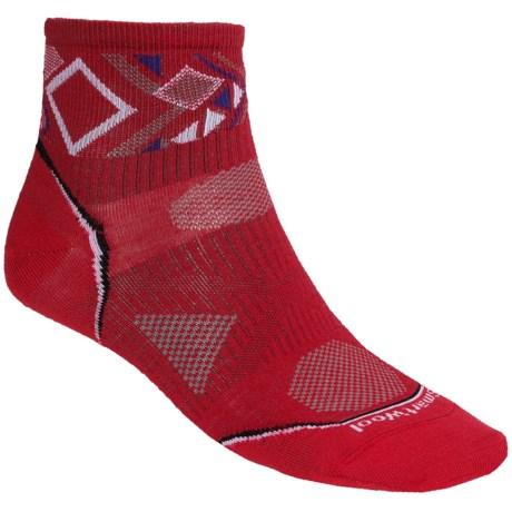 SmartWool 2013 PhD Cycle Mini Socks - Merino Wool, Crew, Ultralight (For Men and Women) in Bright Red