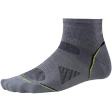 SmartWool 2013 PhD Cycle Mini Socks - Merino Wool, Crew, Ultralight (For Men and Women) in Graphite - 2nds