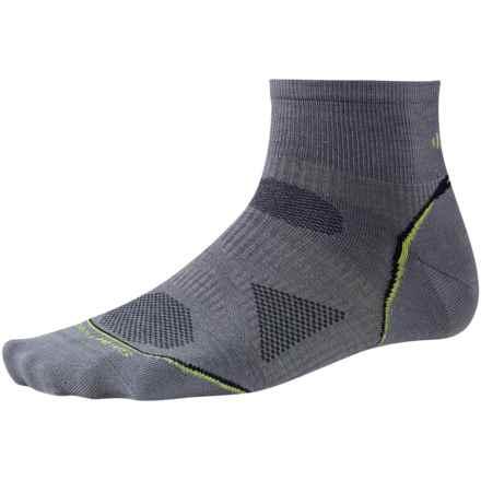 SmartWool 2013 PhD Cycle Mini Socks - Merino Wool, Crew, Ultralight (For Men and Women) in Graphite - 2nds