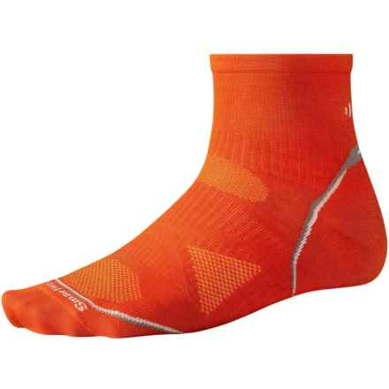 SmartWool 2013 PhD Cycle Mini Socks - Merino Wool, Crew, Ultralight (For Men and Women) in Orange - 2nds