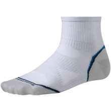 SmartWool 2013 PhD Cycle Mini Socks - Merino Wool, Crew, Ultralight (For Men and Women) in Silver - 2nds