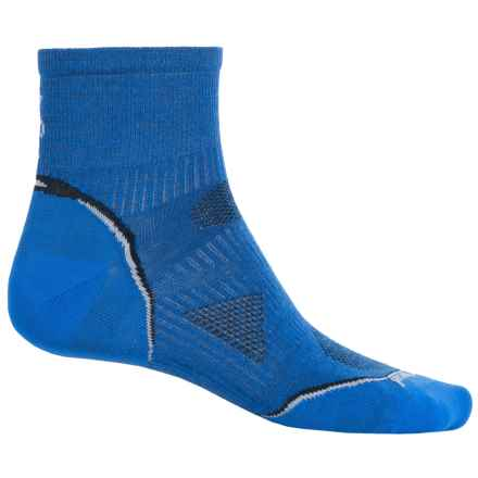 SmartWool 2013 PhD Cycle Mini Socks - Merino Wool, Quarter Crew (For Men and Women) in Bright Blue - 2nds
