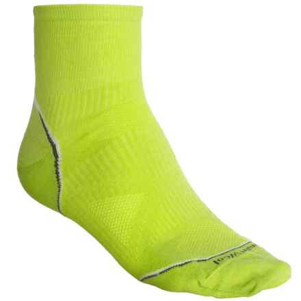 SmartWool 2013 PhD Cycle Mini Socks - Merino Wool, Quarter Crew (For Men and Women) in Smartwool Green - 2nds