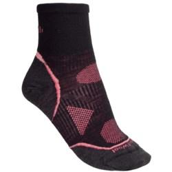 SmartWool 2013 PhD Cycle Mini Socks - Merino Wool, Quarter-Crew, Ultralight (For Women) in Black