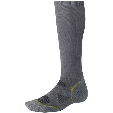 SmartWool 2013 PhD Graduated Compression Socks - Lightweight, Merino Wool (For Men and Women) in Arctic Blue