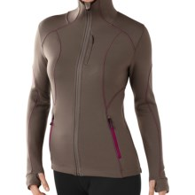 SmartWool 2013 PhD HyFi Hooded Shirt - Merino Wool, Full Zip (For Women) in Taupe - Closeouts