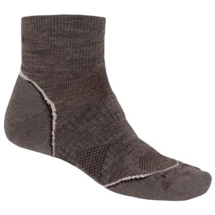 SmartWool 2013 PhD Outdoor Mini Socks - Merino Wool, Lightweight (For Men and Women) in Taupe - 2nds