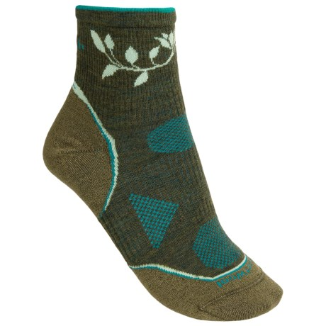 SmartWool 2013 PhD Outdoor Ultralight Mini Socks - Merino Wool, Quarter-Crew (For Women) in Loden