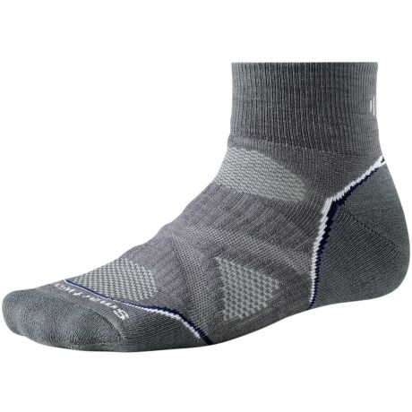SmartWool 2013 PhD Run Medium Mini Socks - Merino Wool (For Men and Women) in Graphite