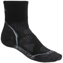 SmartWool 2013 PhD Run Socks - Merino Wool, 3/4 Crew, Ultralight (For Men and Women) in Black/White - 2nds