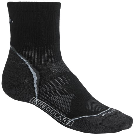 SmartWool 2013 PhD Run Socks - Merino Wool, 3/4 Crew, Ultralight (For Men and Women) in Black/White