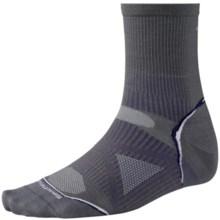 SmartWool 2013 PhD Run Socks - Merino Wool, 3/4 Crew, Ultralight (For Men and Women) in Graphite - 2nds
