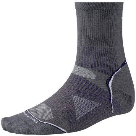 SmartWool 2013 PhD Run Socks - Merino Wool, 3/4 Crew, Ultralight (For Men and Women) in Graphite