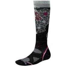 SmartWool 2013 PhD Ski Socks - Merino Wool, Lightweight, Over-the-Calf (For Women) in Black/Gray - 2nds