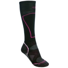 SmartWool 2013 PhD Ski Socks - Merino Wool, Lightweight, Over-the-Calf (For Women) in Black - 2nds