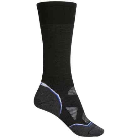 SmartWool 2013 PhD Ski Socks - Merino Wool, Over the Calf (For Women) in Black/Liberty - 2nds