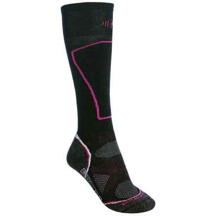 SmartWool 2013 PhD Ski Socks - Merino Wool, Over the Calf (For Women) in Black - 2nds