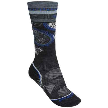 SmartWool 2013 PhD Ski Socks - Merino Wool, Over the Calf (For Women) in Charcoal - 2nds
