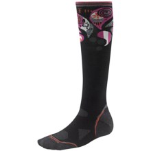 SmartWool 2013 PhD Ski Socks - Merino Wool, Ultralight, Over-the-Calf (For Women) in Black/Berry - 2nds