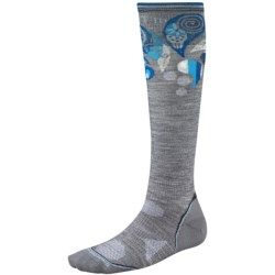 SmartWool 2013 PhD Ski Socks - Merino Wool, Ultralight, Over-the-Calf (For Women) in Light Grey