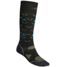SmartWool 2013 PhD Ski Ultralight Socks - Merino Wool, Over-the-Calf (For Men and Women) in Black/Orange - 2nds
