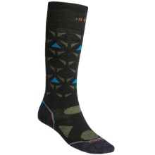 SmartWool 2013 PhD Ski Ultralight Socks - Merino Wool, Over the Calf (For Men and Women) in Black/Orange - 2nds