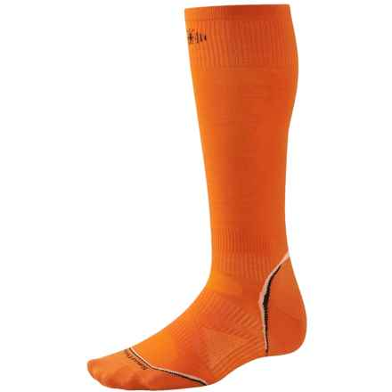 SmartWool 2013 PhD Ski Ultralight Socks - Merino Wool, Over the Calf (For Men and Women) in Bright Orange - 2nds