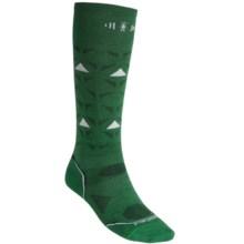 SmartWool 2013 PhD Ski Ultralight Socks - Merino Wool, Over-the-Calf (For Men and Women) in Grasshopper - 2nds