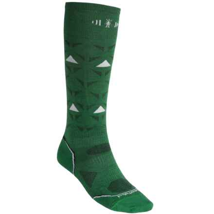 SmartWool 2013 PhD Ski Ultralight Socks - Merino Wool, Over the Calf (For Men and Women) in Grasshopper - 2nds