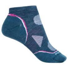 SmartWool 2013 PhD Ultralight Micro Running Socks - Merino Wool, Ankle (For Women) in Deep Sea - 2nds