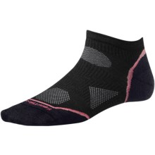 SmartWool 2013 PhD Ultralight Micro Running Socks - Merino Wool (For Women) in Black - 2nds