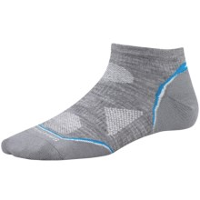 SmartWool 2013 PhD Ultralight Micro Running Socks - Merino Wool (For Women) in Light Grey - 2nds