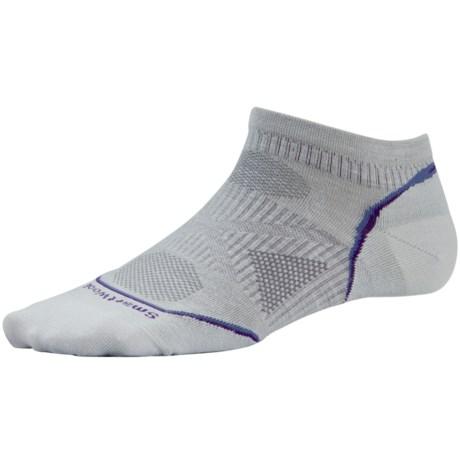 SmartWool 2013 PhD Ultralight Micro Running Socks - Merino Wool (For Women) in Silver Gray Heather