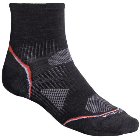 SmartWool 2013 PhD Ultralight Outdoor Mini Socks - Merino Wool, Quarter-Crew (For Men and Women) in Black