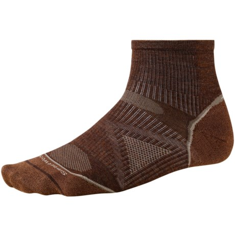 SmartWool 2013 PhD Ultralight Outdoor Mini Socks - Merino Wool, Quarter-Crew (For Men and Women) in Espresso