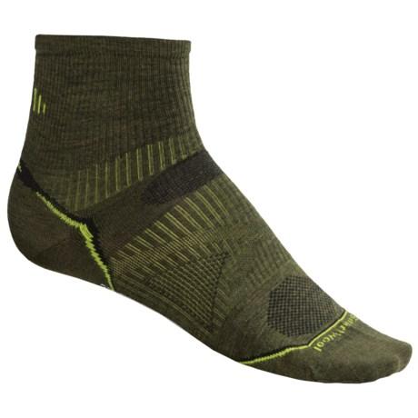 SmartWool 2013 PhD Ultralight Outdoor Mini Socks - Merino Wool, Quarter-Crew (For Men and Women) in Loden