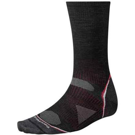 SmartWool 2013 PhD Ultralight Outdoor Socks - Merino Wool, Crew (For Men and Women) in Black - 2nds