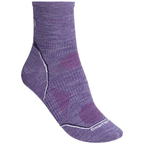 SmartWool 2013 PhD Ultralight Run Socks - Merino Wool, Quarter-Crew (For Women) in Teal