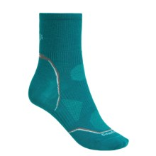 SmartWool 2013 PhD Ultralight Run Socks - Merino Wool, Quarter-Crew (For Women) in Teal - 2nds