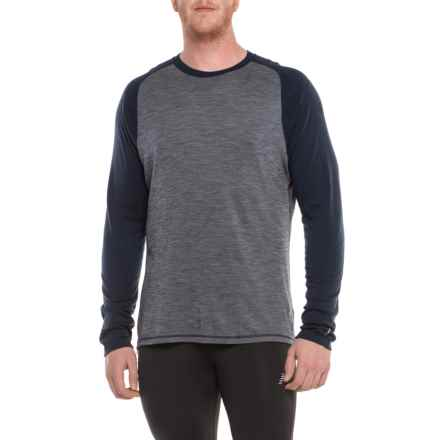 SmartWool 250 Base Layer Top - Merino Wool, Long Sleeve ( For Men) in Deep Navy/Winter White - Closeouts