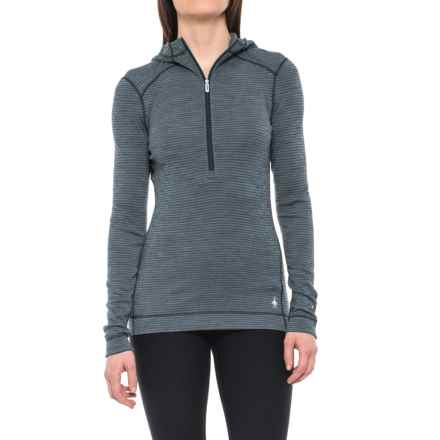 SmartWool 250 Hooded Base Layer Top - Merino Wool, Zip Neck, Long Sleeve (For Women) in Deep Navy - Closeouts