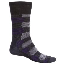 SmartWool Ace of Stripes Crew Socks - Merino Wool (For Men) in Black - 2nds