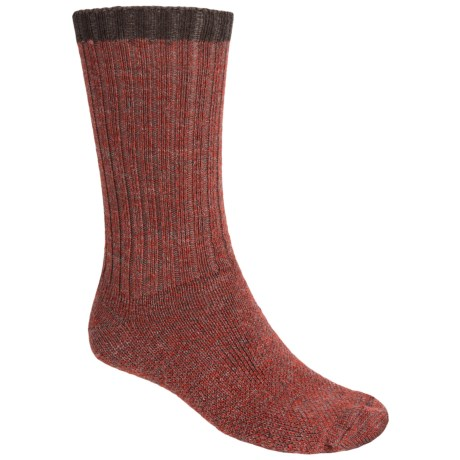 SmartWool Adventurer Socks - Merino Wool. Midweight (For Men) in Red Marl/Chestnut