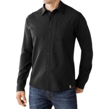 SmartWool Akalii Solid Flannel Shirt - Merino Wool, Long Sleeve (For Men) in Charcoal - Closeouts