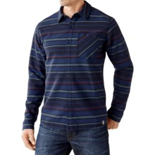SmartWool Akalii Striped Flannel Shirt - Merino Wool, Long Sleeve (For Men) in Deep Navy - Closeouts