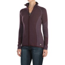 SmartWool Alamosa Sweater - Merino Wool, Zip Front (For Women) in Aubergine Heather - Closeouts
