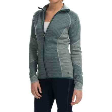SmartWool Alamosa Sweater - Merino Wool, Zip Front (For Women) in Sea Pine Heather - Closeouts