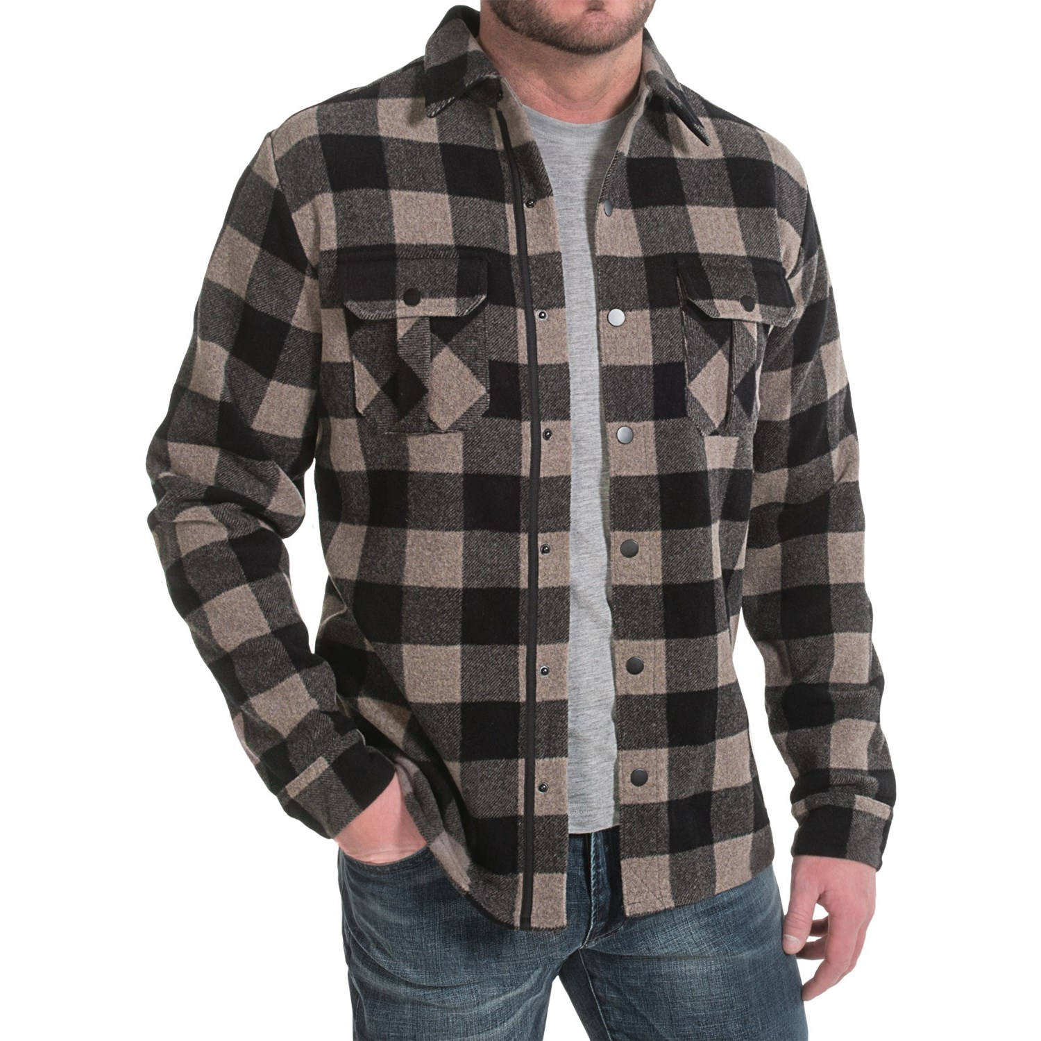 Flannel Motorcycle Jacket >> Mens Wool Shirt Jacket | Jackets Review